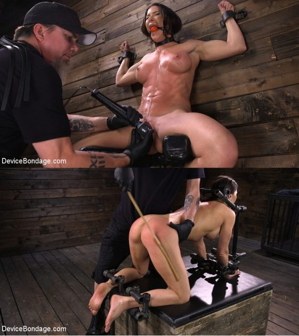 DEVICE BONDAGE: December 12, 2019 – Ariel X/Ariel X: Body Builder Double Penetrated in Diabolical Devices