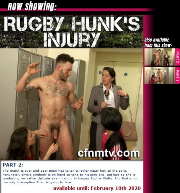 cfnmtv: Rugby Hunk's Injury (Part 1-2)