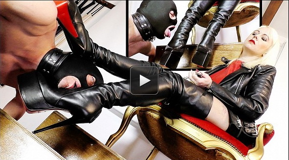 Femme Fatale Films Divine Mistress Heather: My Lucky Leather Boot Licker (Part 1-2)