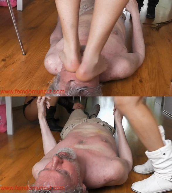 Under my princess: face standing and trampling