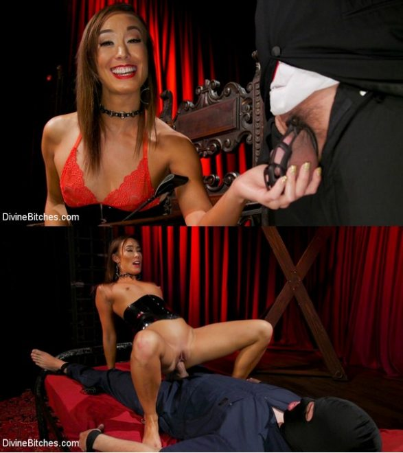 DIVINE BITCHES: January 14, 2020 – Christy Love, Papa Georgio/Christy Love Dominates The Gimp and Fucks Him in the Ass