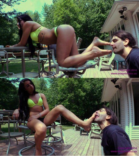 Brat Princess 2: Taylor – Bratty Bikini Girl Foot Worship (1080 HD)