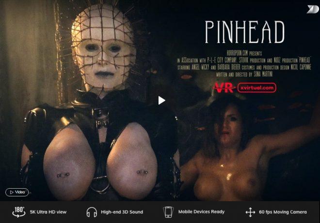 X Virtual/Horror Porn: Pinhead in 180° (Virtual 5) – (4K) – VR