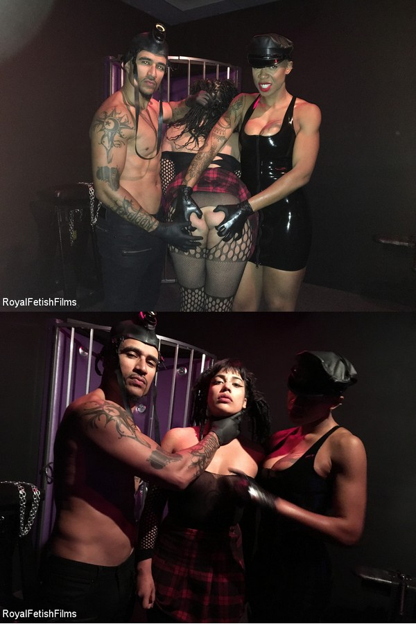 ROYAL FETISH FILMS: March 6, 2020 – King Noire, Ashley Paige, Michelle Minx/Owned: Caged & Crying for Cum