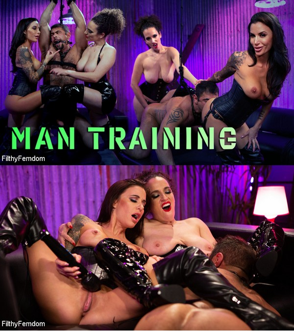 FILTHY FEMDOM: March 20, 2020 – Gia DiMarco, Mistress Blunt, Draven Navarro/Man Training: Gia Dimarco and Mistress Blunt Dominate Clueless Man