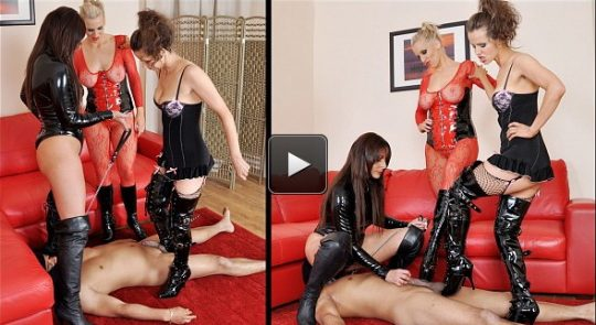 Femme Fatale Films Goddess Aphrodite, Mistress B, Mistress Carly: Kicked to Cum – Super HD (Complete)