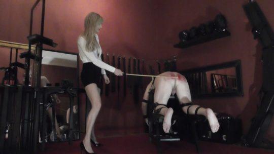 Domina Scarlet starring in video '100 strokes of my cane'