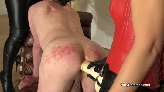 Fetish Liza, Lady Renee starring in video 'Fucked on the strap-on chair' of 'DirtyDommes' studio