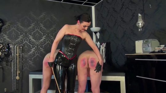 Lady Victoria Valente starring in video 'Cane treatment of 2 slaves'