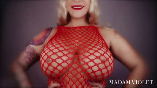 Madam Violet starring in video 'Russian Roulette'