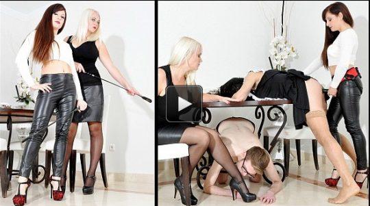 Femme Fatale Films Divine Mistress Heather & Lady Mia Harrington: Maid For Fucking – Super HD – otk spanking