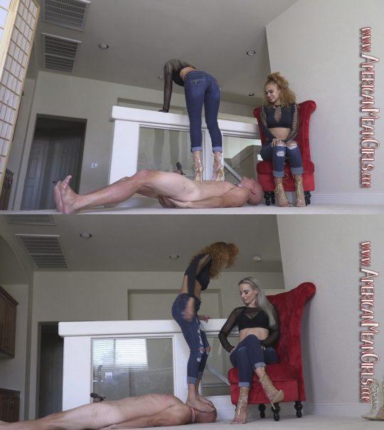 American Mean Girls Goddess Platinum & Queen Simone: Bitch Broken Beneath Our Heels (1080 HD) – slave punishment