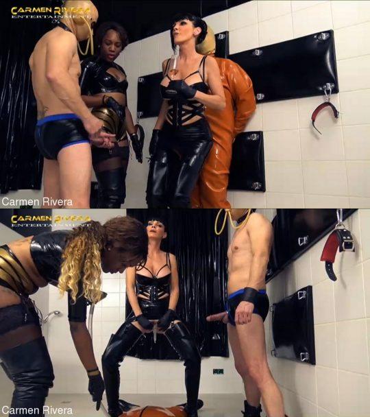 CARMEN RIVERA: April 16, 2021 – Carmen Rivera, Lady Sahara, Mister P., Gummi-Objekt/Sperm Robbery In The Rubber Chamber (5 Of 5)