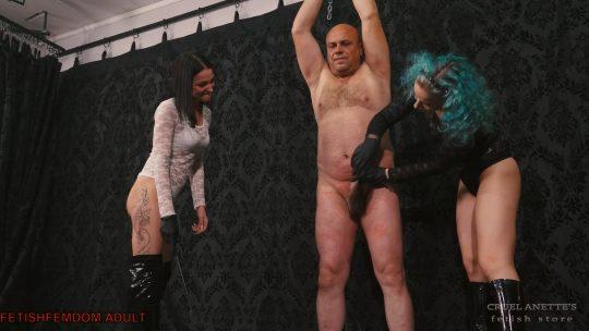 Cruel Anette: Helpless slave's cock punished – Cruel Mistresses