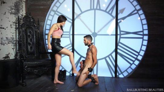 Goddess Rachel Ricci starring in video 'Biggest Ballbusting Loser' of 'BallbustingBeauties' studio