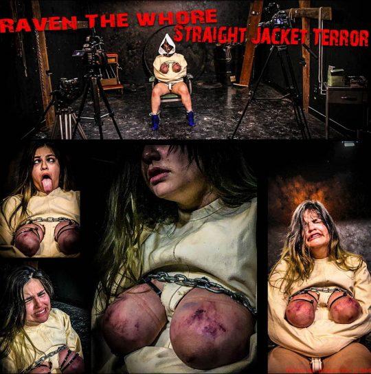 Jacket Terror starring in video 'Raven The Whore' of 'BrutalMaster' studio