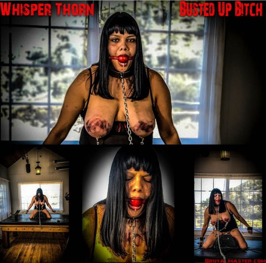 Whisper Thorn starring in video 'Busted Up Bitch' of 'BrutalMaster' studio