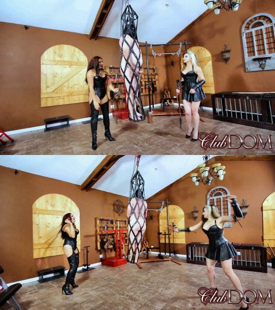 Club Dom Isobel Devi & Michelle Lacy: Whipping Cage with Michelle & Isobel – Whipping