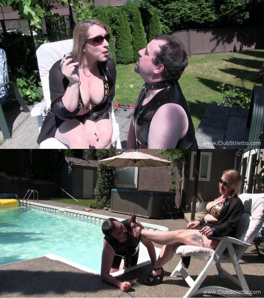 Club Stiletto Ms Sinstress: How he Amuses Me – SMOKING