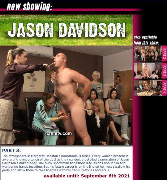 Margaret Hasston,Jason Davidson starring in video 'Jason Davidson (Part 1-3)' of 'cfnmtv' studio