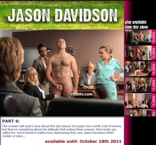 Margaret Hasston,Jason Davidson starring in video 'Jason Davidson (Part 1-6)' of 'cfnmtv' studio