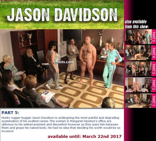 Margaret Hasston,Jason Davidson starring in video 'Jason Davidson (Part 1-5)' of 'cfnmtv' studio