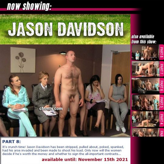 Margaret Hasston,Jason Davidson starring in video 'Jason Davidson (Part 1-8)' of 'cfnmtv' studio