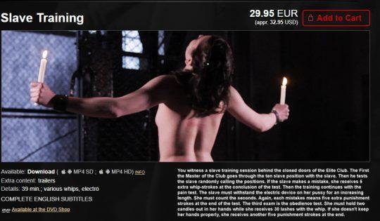ElitePain: Slave Training