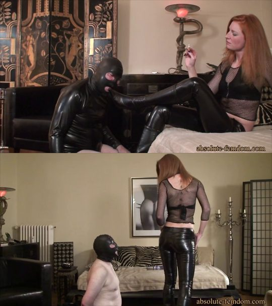 Absolute Femdom – Leather Pants Tease and Face Slapping – FACE SLAPPING
