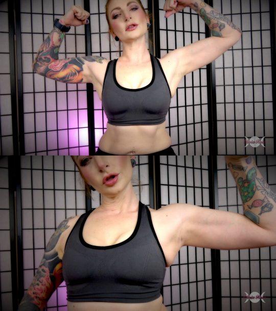 Olivia Rose Fetish: bicep progress worship